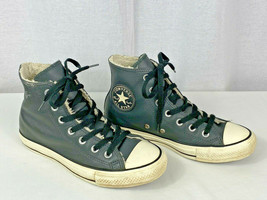 Converse Chuck Taylor Gray Leather City Hiker Shoes Sherpa Lined Mens 5 Womens 7 - $39.59