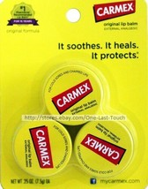 CARMEX^* 3pc Lip Balm Set ORIGINAL FORMULA External Analgesic JARS/Tubs ... - $6.49