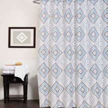 "Polyester Canvas Fabric Shower Curtain 70""x70"" Kaitlyn Geometric Print - $19.29"
