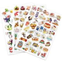 5 PCS Food Series DIY Photo Album Diary Luggage Book Phone Stickers - $16.23