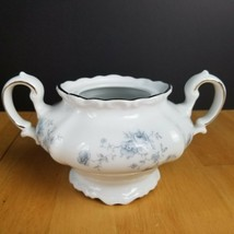 Johann Haviland Blue Garland China Bavaria Germany Sugar Bowl NO LID Blu... - $4.94