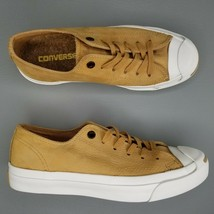 Converse Jack Purcell Ox Low Suede Skate Shoes Womens Size 7 Tan White - £45.02 GBP
