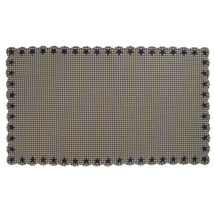 BLACK STAR Scalloped Table Cloth - 60x102 - Farmhouse Black/Tan - VHC Brands