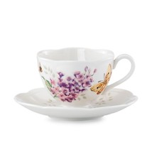 Lenox Butterfly Meadow  Orange Sulphur Cup And Saucier Set - $24.75