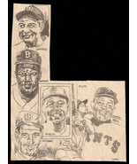 Aaron Gehrig Mays Robinsan Ruth Williams Sport Newspaper Clip Baseball S... - $8.99