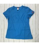 Dickies Scrub Top Womens Size XS Medical Veterinary Dental Nurse Teal Sh... - $11.87