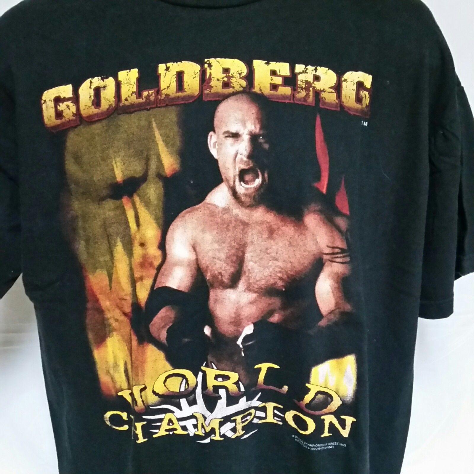 VTG 90s Bill Godlberg WCW Wrestling T Shirt Champion Sting Stone Cold XXL 2XL