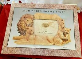 4X6 Picture Frame Lion Family Design Lion Lioness Cub by Popular Creations NEW image 6
