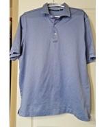 Bobby Jones Men's Golf Sport Polo Shirt Size Large Blue Print  - $14.99