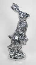 "11"" Tall Faux Chocolate Foil Easter Bunny Rabbit Holding Basket of Eggs - $19.75"