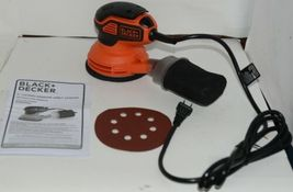 Black Decker BDERO600 5 Inch Random Orbit Sander Orange Black CORDED image 5