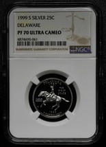 1999S Silver Delaware 25¢ NGC PF70 Ultra Cameo State Quarter 4874690-061 SKU C38