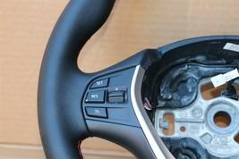 12-18 BMW F30 Sport Steering Wheel w/ Cruise BT Volume W/O Paddles -RED STITCH image 2