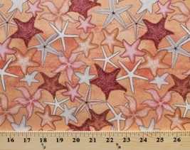 Starfish Marine Animals Ocean Sea Stars Aquatic Cotton Fabric Print BTY ... - $10.95