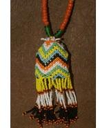 Tribal Kalimantan Old Beads Tassel Necklace Ethnic Status Symbol Hand Cr... - $47.49