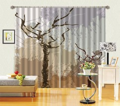 3D Tree Art 0494 Blockout Photo Curtain Print Curtains Drapes Fabric Window UK - $145.49+