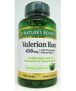 Valerian Root with Proprietary Herbal Blend 450 mg 100 Capsules Exp 8/23 - $11.87