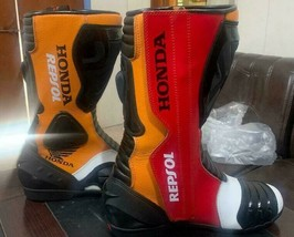 Honda Repsol Motorbike leather boots CE Approved  - $140.00