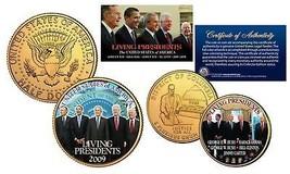 LIVING PRESIDENTS DC Quarter & JFK Dollar 2-Coin Set BUSH CLINTON OBAMA ... - $9.88