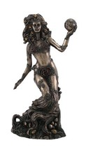 Bronzed Earth Mother Goddess Gaia Statue - $48.50