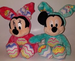 Mickey Minnie Mouse Disney Store Easter Eggs Bunnies Plush Lot Stuffed P... - $28.98