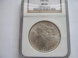 1900 , Morgan Silver Dollar , NGC , MS 63 - $74.25