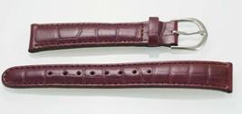 Fossil Donna Viola Uva Testurizzate pelle Ricambio Cinturino Orologio 18mm - $9.82