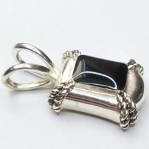 Avon black enamel Pendant K87 - $17.57