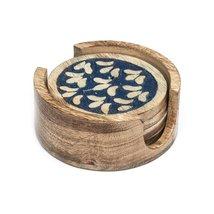 Holi Color Rub Coasters - Botanical -Set of 4 - Matr Boomie - $24.95