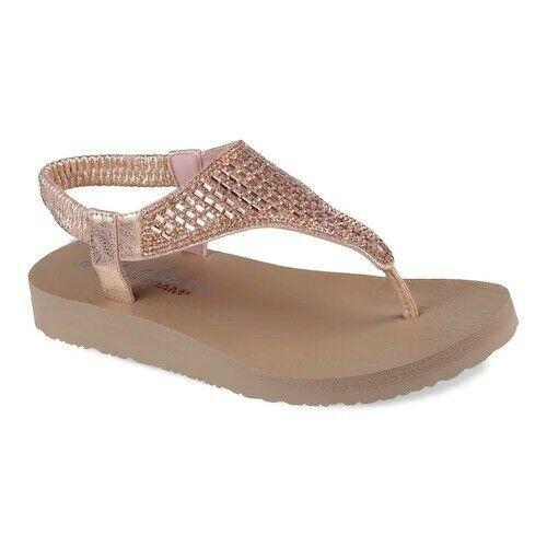 Womens Skechers 31560 Cali Meditation Rock Crown  Sandals Flip Flops size 8M