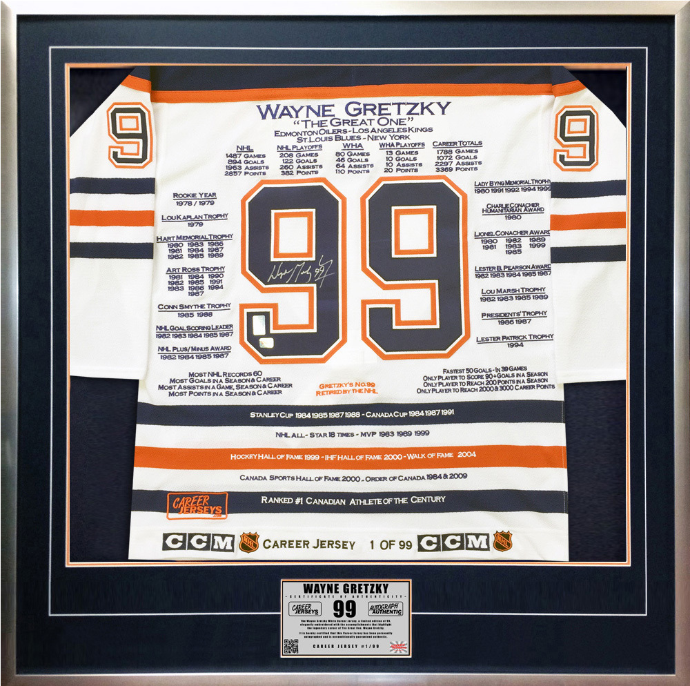 Wayne Gretzky White Career Jersey  1 of 99 - and 50 similar items b15d8016c