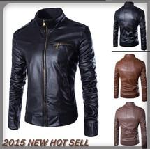 The Best Quality Uk Size XS-XL Men Slant Zip Closure Front Fashion Leath... - $51.30