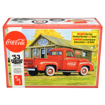 Skill 3 Model Kit 1953 Ford F-100 Pickup Truck Coca-Cola with Vending Ma... - $65.47