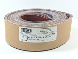 "2.5""x 108.5"" P120 grit Quality SANDPAPER Belts 10 Count with Cloth Backi... - $18.00"