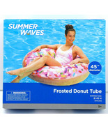"""Summer Waves Giant Inflatable Frosted Sprinkle Donut Tube Pool Float  45"""" - $22.76"""