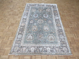 5'8 X 8'10 Hand Knotted Sage Green Brown Bamboo Silk Oushak Oriental Rug... - $831.62