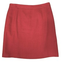 Ann Taylor Red Wool Straight Skirt Size 12 Banded Waist Zipper Closure W... - $19.75