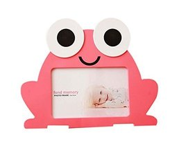 6 inch Creative Cartoon Cute Baby Photo Frame PINK Frog Models