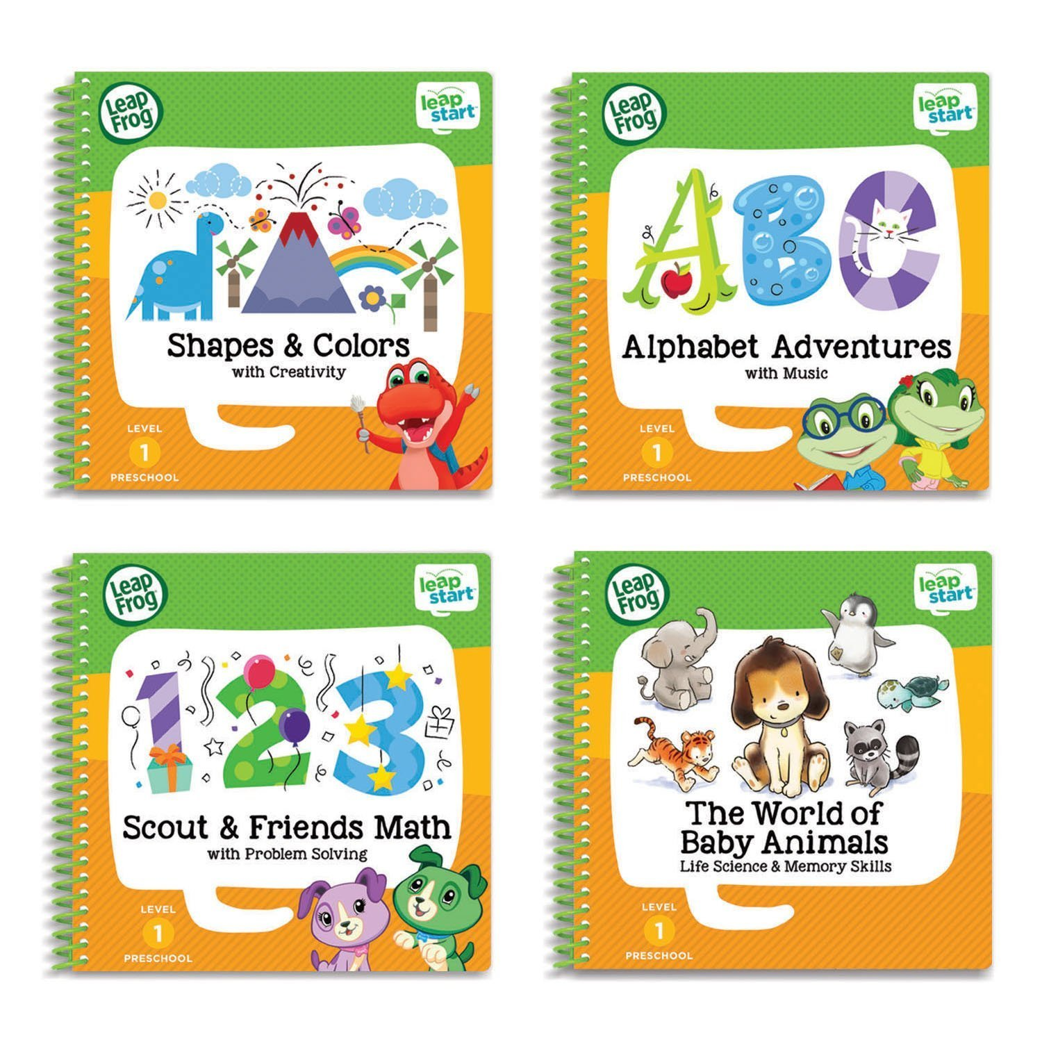 Primary image for LeapFrog LeapStart Pre-school 4-in-Activity Book Bundle