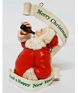 Santa Claus Drink Bottle Beer Coke Root Merry Christmas Ornament Happy N... - $19.79
