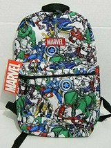 Bioworld Marvel Comics Avengers Kid's Backpack  Book Bag Adjustable Straps - $14.30
