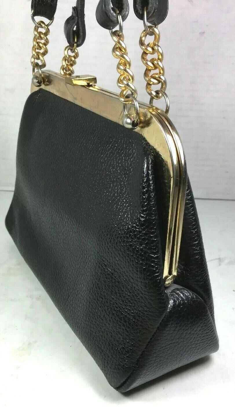 Saber True Vintage Small Black Pebbled Leather Handbag
