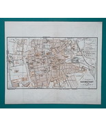 1936 MAP - GERMANY German Reich Mannheim & Darmstadt Town City Plans - $21.60