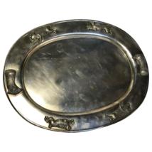 Large Fine Antique Rare Victorian 19th Century Danish Silver Plate Salver - $818.28