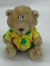 "Russ Berrie Lifes A Beach Teddy Bear 9"" Tan W/Hawaiian Shirt Plush Stuff... - $11.88"