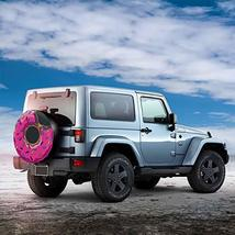 CENSIHER Donut Pattern Spare Tire Cover Polyester Waterproof Universal Spare Whe image 3