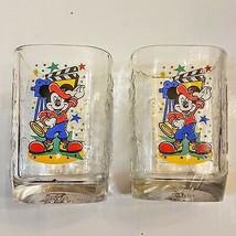 Mickey Mouse Walt Disney World 2000 Celebration McDonald's Glass Tumbler LOT - $9.90