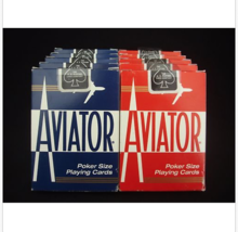 10 Decks Aviator Poker Size Playing Cards No. 914 (Total 5 Red & 5 Blue) - $29.62