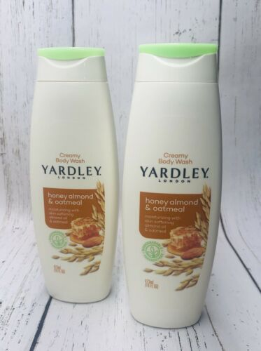 Primary image for (2) Yardley London Honey Almond & Oatmeal Moisturizing Creamy Body Wash 16 oz