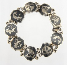 Siam god and goddess Women's .925 Silver Bracelet - $69.00